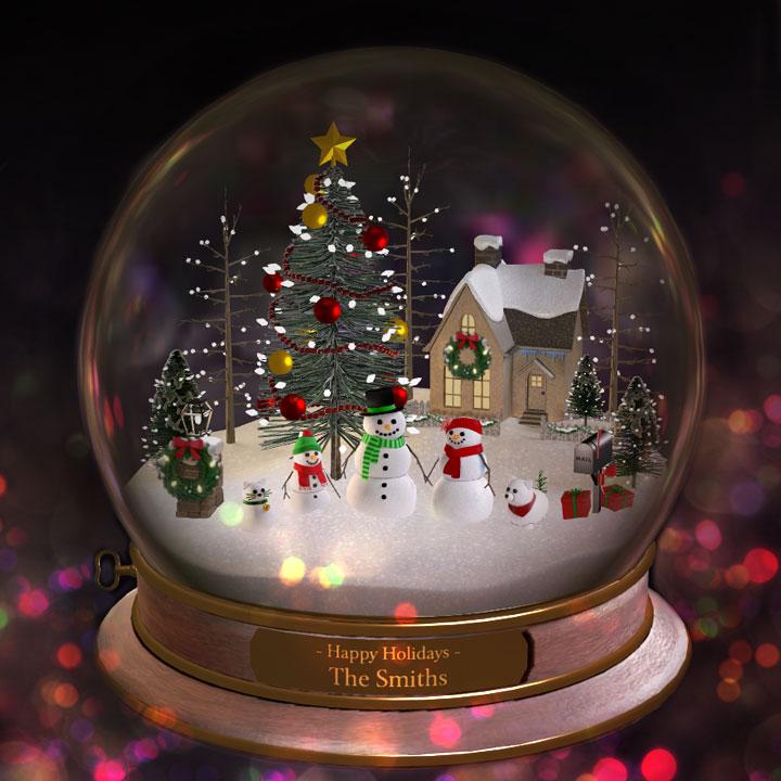 custom made snow globe